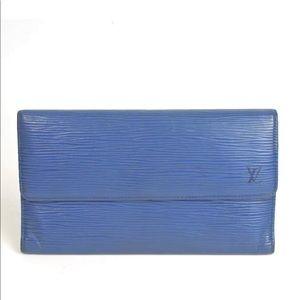 Auth Louis Vuitton Epi Portefeuille Long Wallet